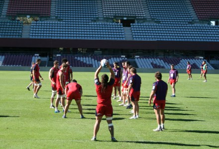 Queensland Reds in training.