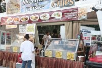 Asian food stall at the Riverstage