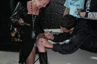 Happy to get a leg autograph