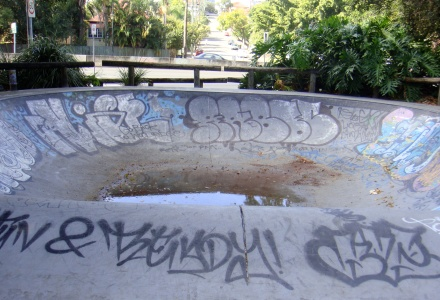 Brisbane skating park cracks