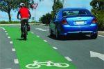 Sunshine Coast Council green cycle lane