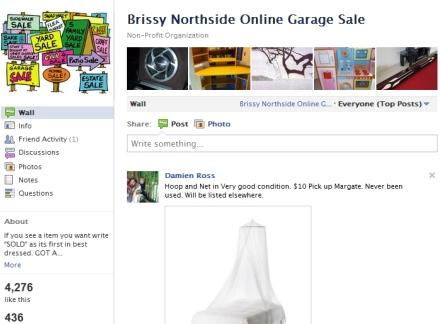 Popular Brisbane Northside Garage Sale - A Facebook Market