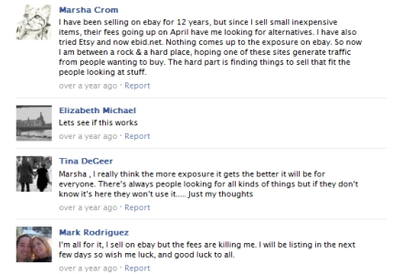 Sellers discuss eBay fees and alternatives