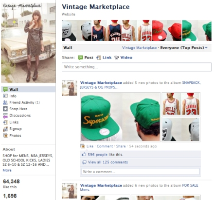 Facebook Shops become more popular, Vintage Marketplace has over 64,000 followers