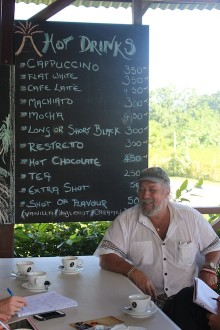 Tanna Coffee's owner, Australian Terry Adlington. Picture by: Jane Mahoney.