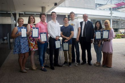Some of the 2014 QUT Journalism Award winners