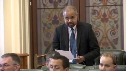Cook MP Billy Gordon speaks as Parliament returns.