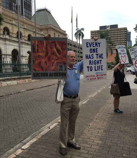 Anti women's right to choose abortion rally