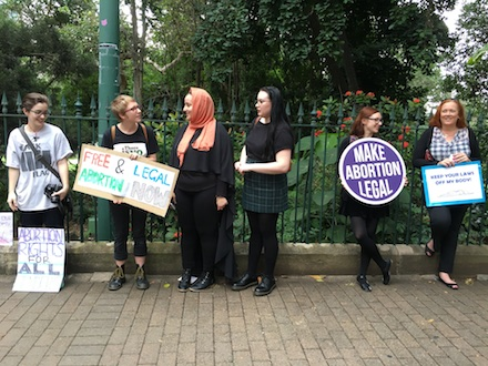 Women's right to choose abortion rally 10th May 2016
