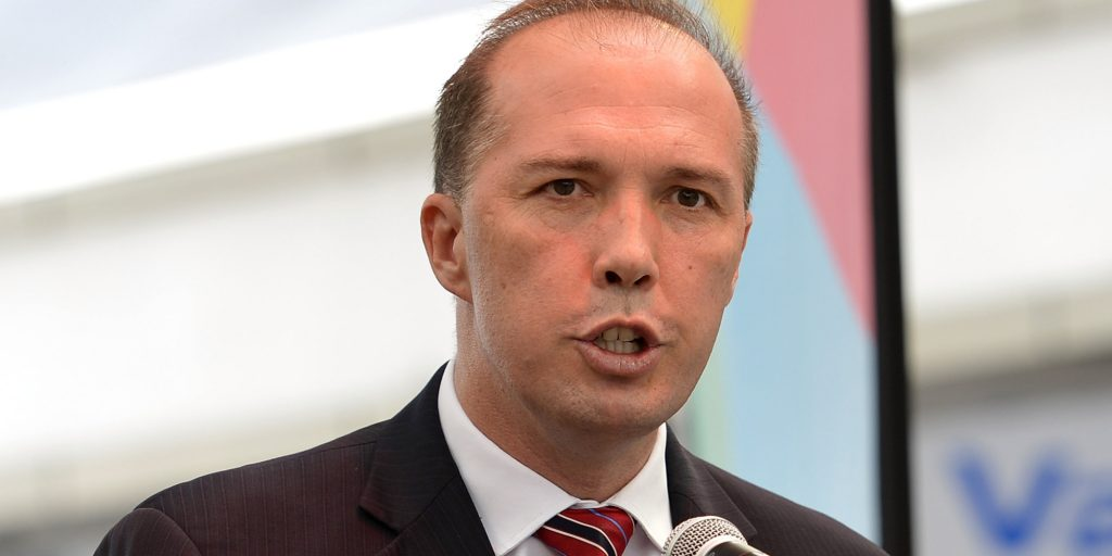 Peter Dutton believes illiterate and innumerate refugees will take Australian jobs. Source: Huffington Post