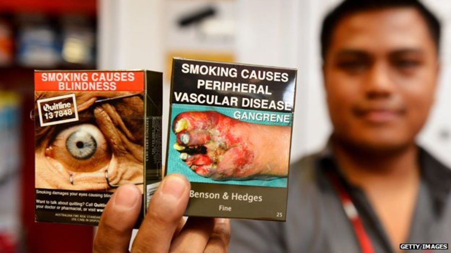 Plain packaging of cigarettes. Source: BBC News