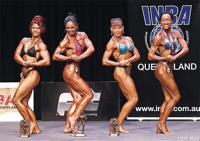 Women fitness posing