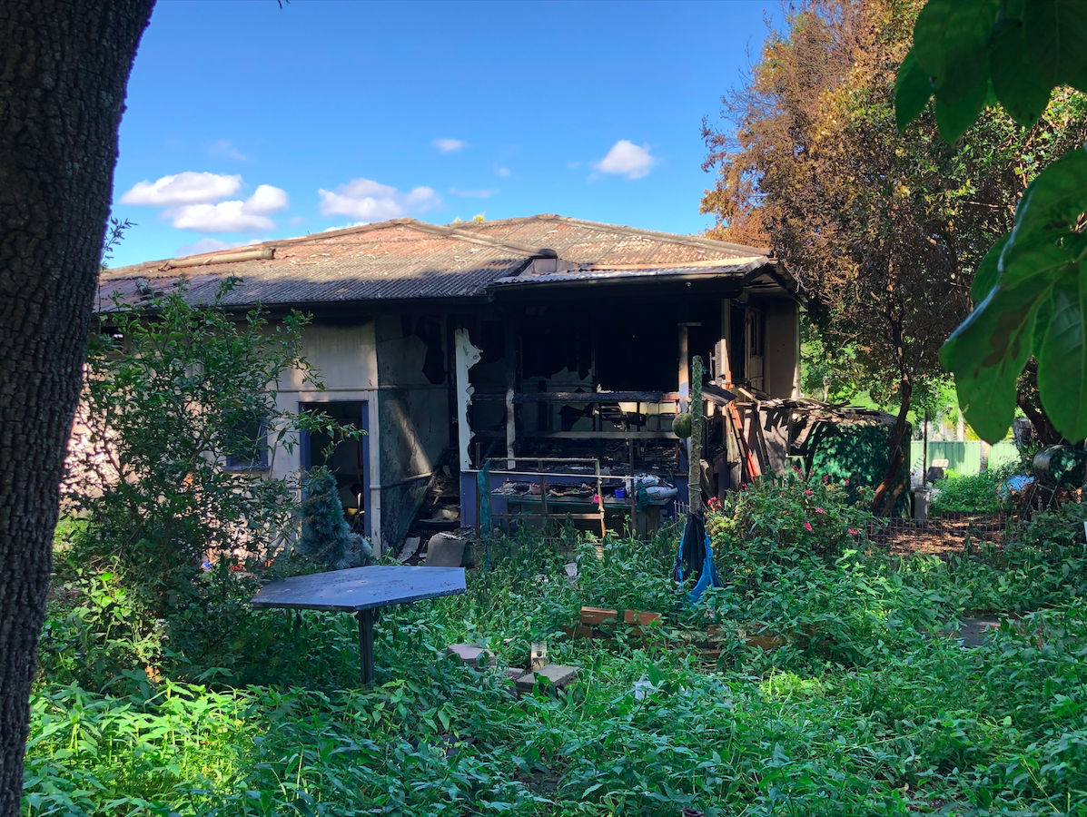 Robert Jackson's Salisbury home was destroyed after a kitchen fire engulfed the building.
